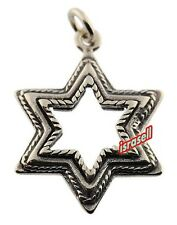 925 Sterling Silver JEWISH STAR OF DAVID PENDANT - Hand Made in Israel - Gift