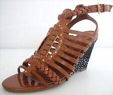 New  Guess SCHYLER Woven Strappy Wedge Sandal Heel Shoe  women's sz 6.5