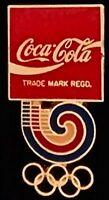 Coca Cola Olympic Sponsor Pin~Cut out~Seoul~1988~Games Emblem~Logo~Coke