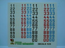 1/43 DECALS NUMERI MISURE mm 6 - mm 7