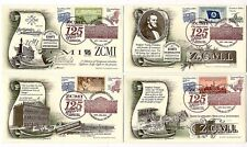 Three Sets - Zcmi ~ 125th Anniversary Covers With Stamps ~ Utah Mormon sh4