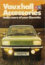 Vauxhall Chevette Accessories 1976-77 UK Market Sales Brochure Saloon Hatchback