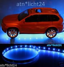 PKW Auto Unterbodenbeleuchtung 2 x 1,2m 120cm 60 SMD Led Blau12V IP65 FLEXIBEL