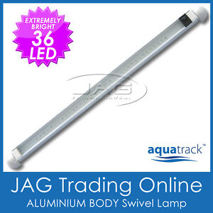 12V ALUMINIUM 36 LED SWIVEL LAMP / CABIN LIGHT & SWITCH