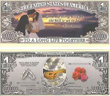 "Wedding ""One Million"" Dollar Bill  $1,000,000 Great Gift *New*"