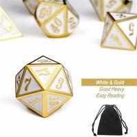 7pcs Zink Legierung Polyhedral Side Dice Rollenspiel Spiel Würfel DIY Antik
