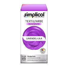 SIMPLICOL Textilfarbe INTENSIV all in 1 LAVENDEL LILA Farbe incl. Fixierpulver