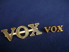 4 pcs VOX- ORIGINAL GOLD  AMPLIFIER SPEAKER CABINET LOGO NEW.