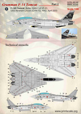 NEW Print Scale Decals 48144 1:48 Grumman F-14 Tomcat Part-2