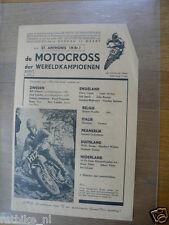 62 FLYER MINIPOSTER INT. MOTOCROSS ST.ANTHONIS 1961 BROER DIRKS,