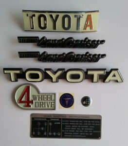 Toyota Land cruiser fj 40 1979-1984  Rear and front Emblems