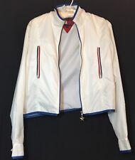 New listing Vtg 90's Jacket Tommy Hilfiger Crop Top Retro Short Lightweight White Logo S M 8