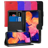 For Samsung Galaxy A10 SM-A105FN/DS Case- Premium Leather Wallet Flip Case Cover