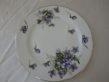 """ROSSETTI SPRING VIOLETS SET OF 4 BREAD PLATES 6""""  JAPAN HAND PAINTED"""