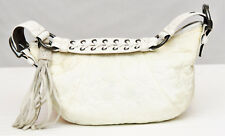 COACH IVORY 2005 SIGNATURE QUILTED SATEEN HOBO HANDBAG #6791