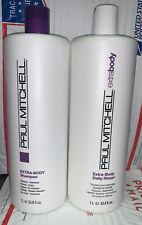 Paul Mitchell EXTRA BODY Shampoo & Rinse LITER DUO 33.8oz Each.