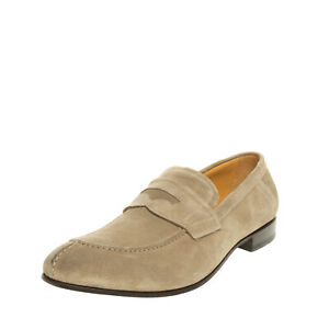 RRP €270 RAPARO Leather Penny Loafer Shoes Size 44 UK 10 US 11 Made in Italy
