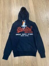 NEW-MEN'S SUPERDRY DUO HOODIE SWEAT SHIRT, # M20004NS,ECLIPSE NAVY, SMALL $54.95