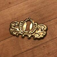Antique Brass Keyhole Door Key Plate Furniture Hardware Reproduction Escutcheon