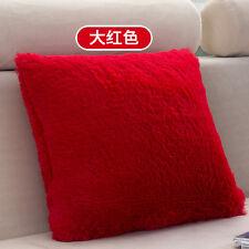 Soft Plush Square Pillow Case Sofa Waist Throw Cushion Cover Home XmasDecoration