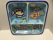 Summer Oasis Tropical Fish Serving Bowl/Platter/Chip and Dip