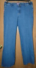 Womens Prefaded Medium Wash Woman Within Flare Jeans Size 16 Tall very good