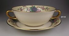LENOX MANDARIN CREAM SOUP BOWL WITH UNDERPLATE- indented underplate - MINT!
