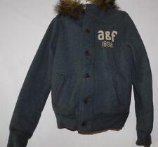 Abercrombie Boys Gray Bear Brook Hoodie Jacket Size Large Brand New