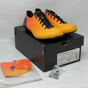 S-WORKS SUB6 FACT Carbon Burst Orange EU 41.5 US 8.5 Lace Road Shoe NEW WITH BOX