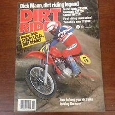 JUNE 1983 DIRT RIDER MAGAZINE,HONDA XR500R,KAWASAKI KDX200,SUZUKI RM125D,YAM TT6
