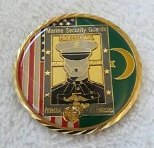 AUTHENTIC USMC EMBASSY SECURITY NOUAKCHOTT MAURITANIA AFRICA CHALLENGE COIN