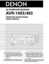 Denon AVR-1403 AV Surround Receiver Owners Manual