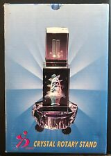 """3"""" Multicolor Turntable Rotary Light stand base and laser crystal (Blue/Silver)"""