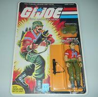 *RECARDED* 1985 GI Joe Bazooka v1 Figure Complete Sealed *CUSTOM File Card Back*