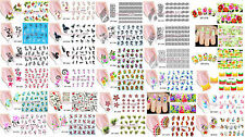5 Bustine Water Decals Water Transfer-Tattoo Adesivi Unghie nail art NEW 2016