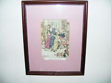 """Arthur Rackham Original Livre Plaque Imprimer from CHRISTMAS CAROL """"Une Rougeur 11"""" X 9"""
