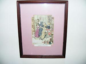 """c1920   A  Christmas  Carol  Arthur  Rackham  Original  Print   11"""" x 9   Framed"""