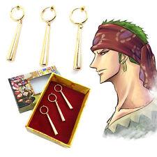 Anime ONE PIECE Roronoa Zoro Earrings Pendant Ear Clip Earbob Eardrop Cosplay AB