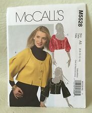 McCall's M5528 sewing pattern Misses lined Jacket 6-8-10-12-14 Uncut 2007