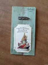 Hallmark Marjolein Bastin Feather Pin and Card Nature's Sketchbook New