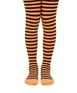 Jefferies Halloween Orange and Black Striped Tights  2-4Y 4-6Y