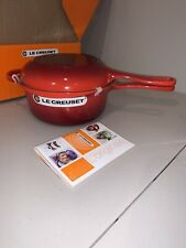 LE CREUSET Multifunctional Pot & PAN, 2.5 Qt Cerise $285 NWT