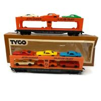 🔴 Lot Of 2 Tyco Mantua HO SCALE Auto Loader Trailer Train W/ 9 Auto PLEASE READ