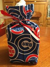One Chicago Cubs Handmade Cotton  Fabric Square Tissue Box Cover