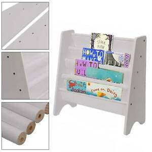 Modern Kids Childrens Book Shelf Sling Storage Rack Organizer Bookcase Bookshelf