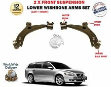 FOR VOLVO V50 2004--> NEW 2 X FRONT AXLE LOWER WISHBONE SUSPENSION ARMS SET
