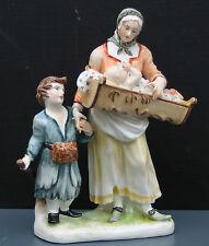 """Nymphenburg personaggio """"mendicante con bambini"""", staccato, sammelwürdig!!!"""