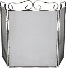 Stainless Steel Large 3 Fold Fireguard / Fire Screen / Spark Guard