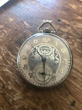 Illinois A Lincoln pocket watch 14k white gold filled model 527