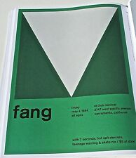 Fang Sacramento CA Rock and Roll Band Mini Poster Concert Poster 13x10